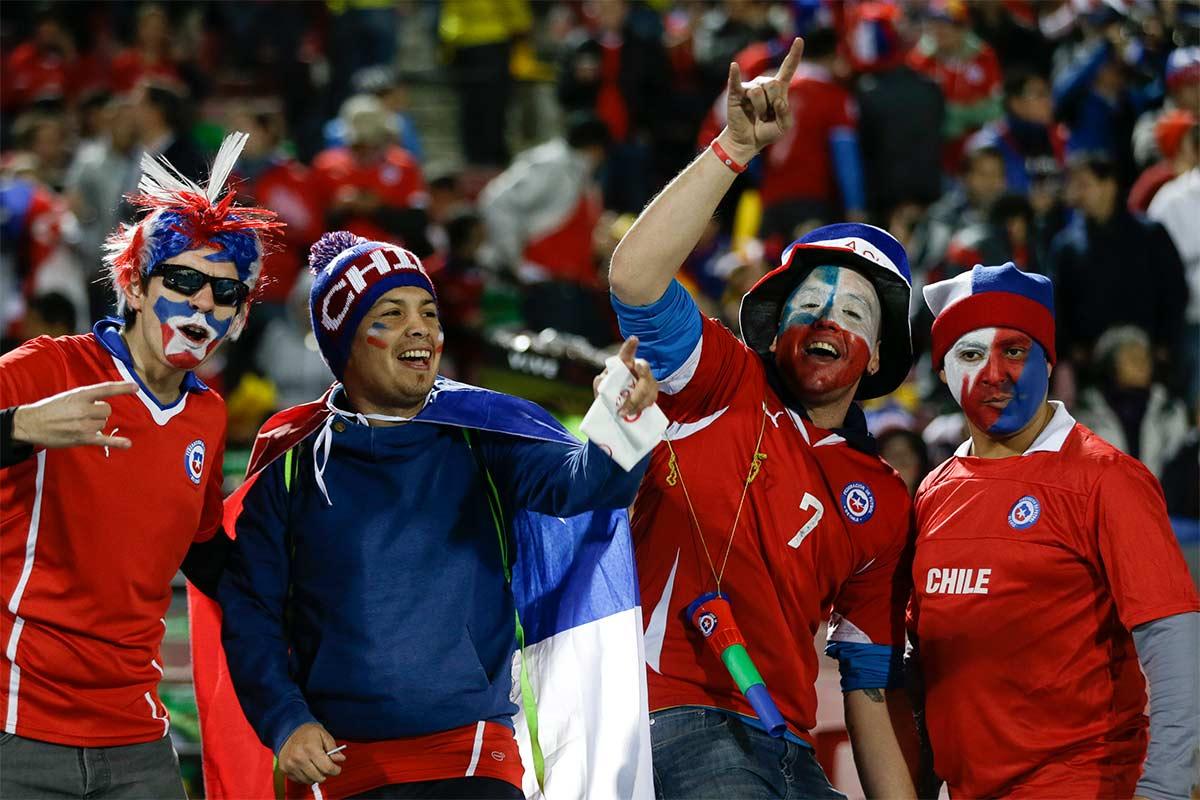 Aficionados de la selección chilena