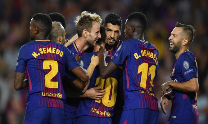 Barcelona celebrando tanto temporada 2018