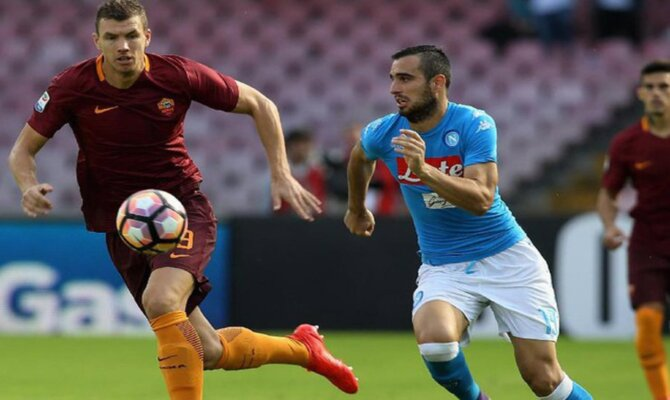 Previa para el Roma vs Napoli de la Serie A