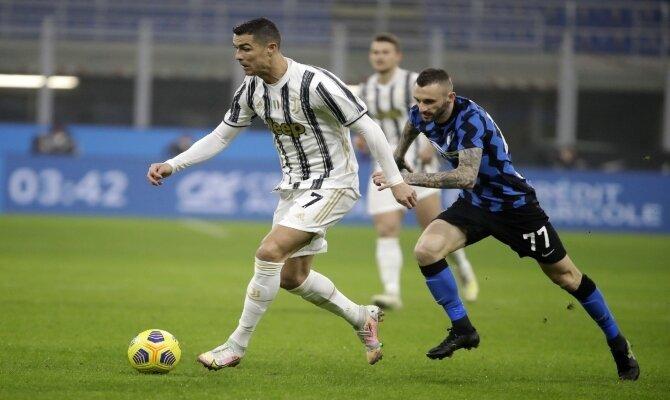 Cristiano Ronaldo y Marcelo Brozovic buscarán la final de la Coppa en este Juventus vs Inter de Milán
