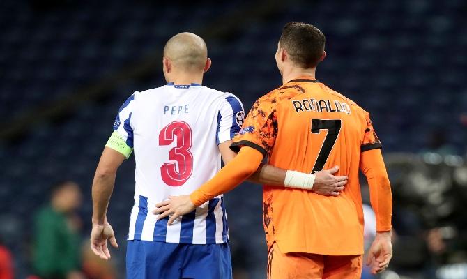 Los viejos conocidos, Pepe y Cristiano, quieren instalar a sus equipos en los cuartos de final. Partidazo este Juventus vs Porto